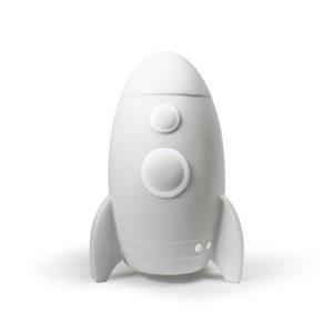 Witte LED lamp in de vorm van een raket van Atelier Pierre