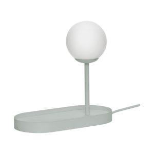 Grijze bureaulamp van Hübsch