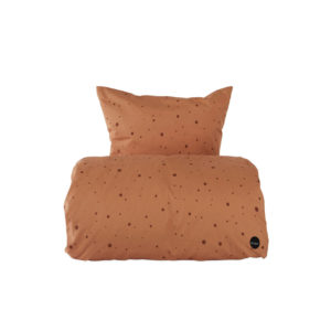 OYOY DEKBEDOVERTREK DOT BEDDING KARAMEL