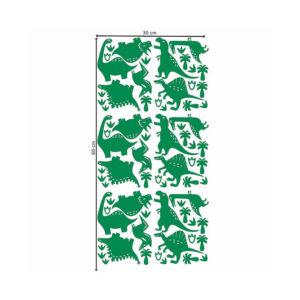 Muursticker met groene dino's van Pöm