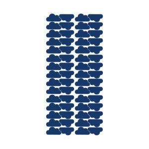 Muursticker met blauwe wolkjes van Pöm