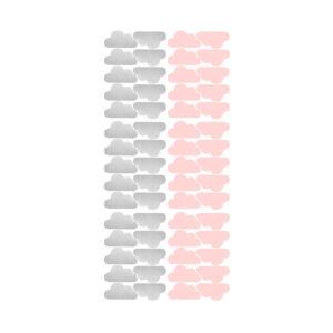 Muurstickers met roze en zilveren wolkjes van Pöm