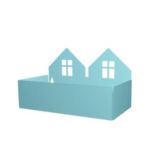 ROOMMATE OPBERGBAKJE TWIN HOUSE PASTELBLAUW