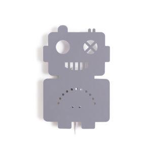 ROOMMATE WANDLAMP ROBOT GRIJS