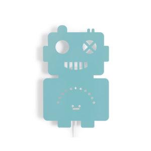 ROOMMATE WANDLAMP ROBOT PASTELBLAUW