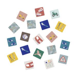 Memory Game met voertuigen en vogels van Sebra