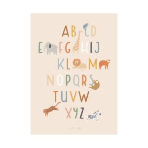 Poster van Sebra met alfabet