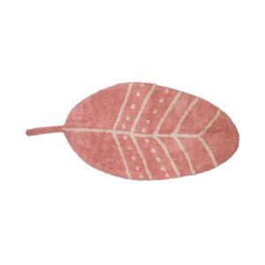 Tapijt in de vorm van een roze veer van Tapis Petit