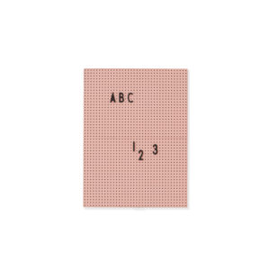 Roze letterbord van Design Letters in A4 formaat