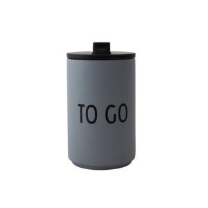 Grijze thermische beker van Design Letters