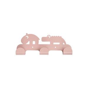 Roze muurkapstok met dieren van Done by Deer