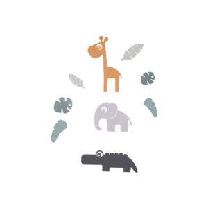 Muurstickers Tiny Tropics van Done by Deer