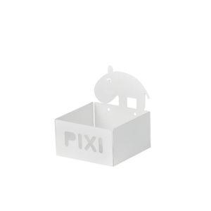 Wit opbergbakje Pixi met nijlpaard van Done by Deer