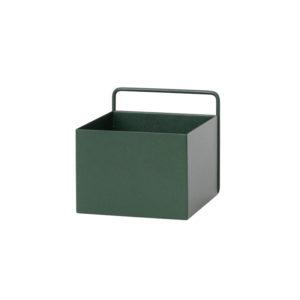 Vierkant bakje in donker groen van Ferm Living