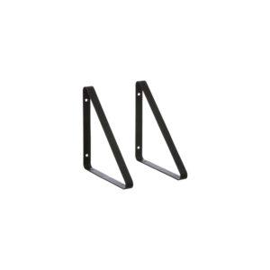 Set zwarte hangers voor wandrek van Ferm Living