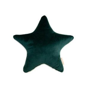 Groen ster kussen in velvet van Nobodinoz
