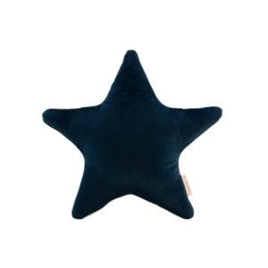 Blauw ster kussen in velvet van Nobodinoz
