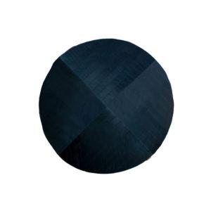 Blauwe ronde speeltapijt in velvet van Nobodinoz