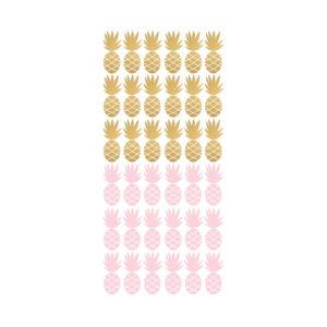 Muursticker met roze en gouden ananassen van Pöm