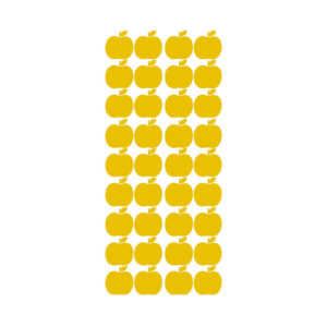 Muursticker met gele appels van Pöm