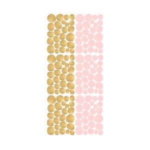 Muursticker met roze en gouden dots van Pöm
