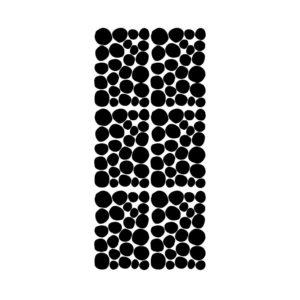 Muursticker met zwarte dots van Pöm
