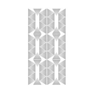 Muursticker met zilveren driehoekjes van Pöm