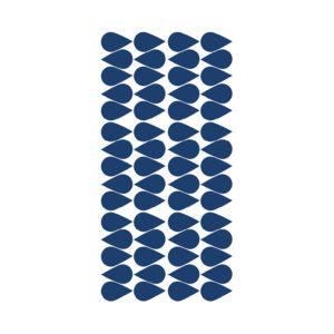 Muurstickers met blauwe druppels van Pöm