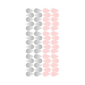 Muurstickers met roze en zilveren druppels van Pöm