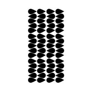 Muurstickers met zwarte druppels van Pöm