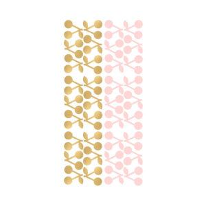 Muursticker met roze en gouden kersjes van Pöm