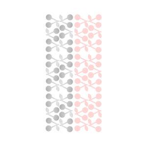 Muurstickers met roze en zilveren kersen van Pöm