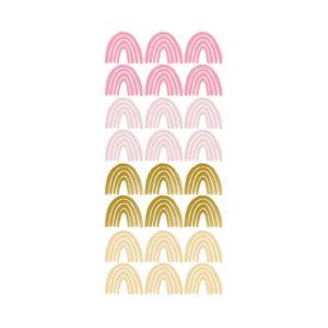 Muursticker met roze en gouden regenbogen van Pöm