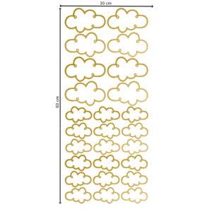 Muursticker met gouden transparante wolkjes van Pöm