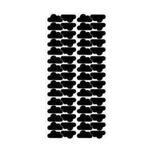 Muurstickers met zwarte wolken van Pöm