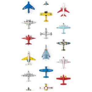 Wit behangpapier met vliegtuigen van Studio Ditte