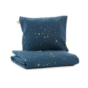 nobodinoz himalaya dekbedovertrek 150x200cm gold stella night blue