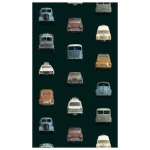 Donker behangpapier met auto's van Studio Ditte