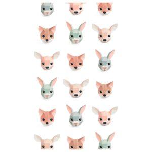 Wit behangpapier met bosdieren van Studio Ditte