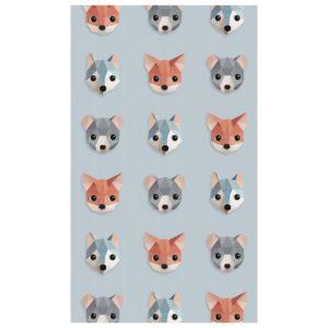 Blauw behangpapier met bosdieren van Studio Ditte
