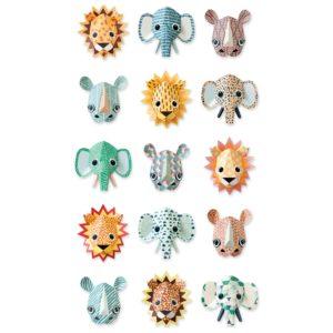 Wit behangpapier met coole wilde dieren van Studio Ditte