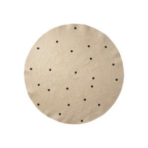 Jute tapijt met zwarte bollen van Ferm Living