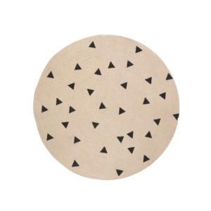 Jute tapijt met driehoekjes van Ferm Living