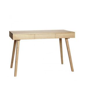 Eiken houten bureau met 3 lades van Hübsch