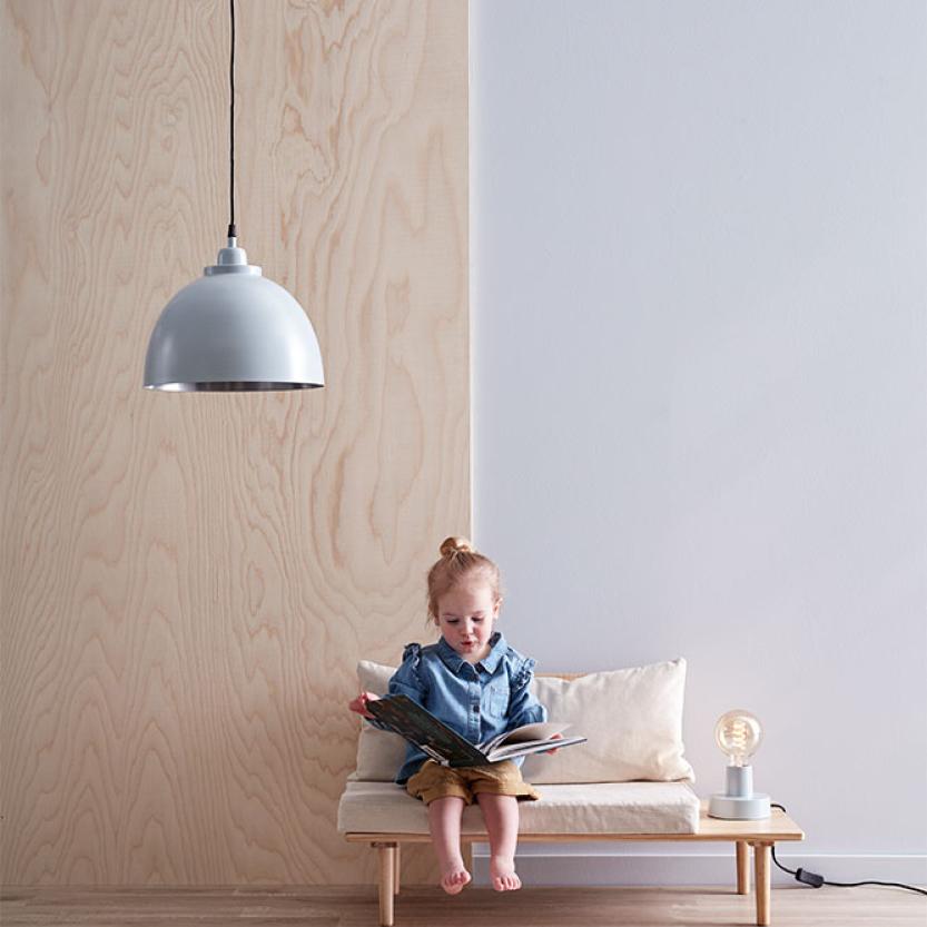 Tafellamp Grijs & Blauw Kids Concept