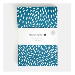 studio ditte hoeslaken flow blue