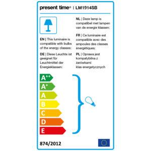 Energielabel bureaulamp Steady van Present Time in Sand Brown