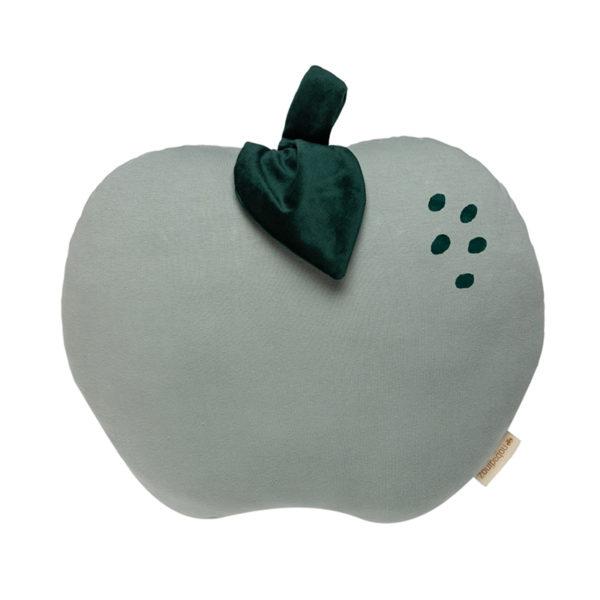 Groen kussen van Nobodinoz in de vorm van een appel