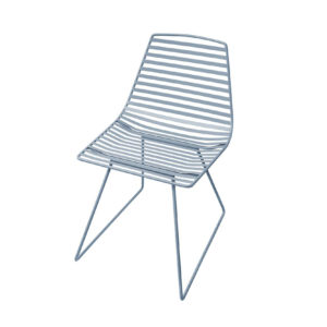 sebra me sit large metal chair cloud blue
