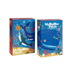 Londji puzzel big blue verpakking voor en achterkant